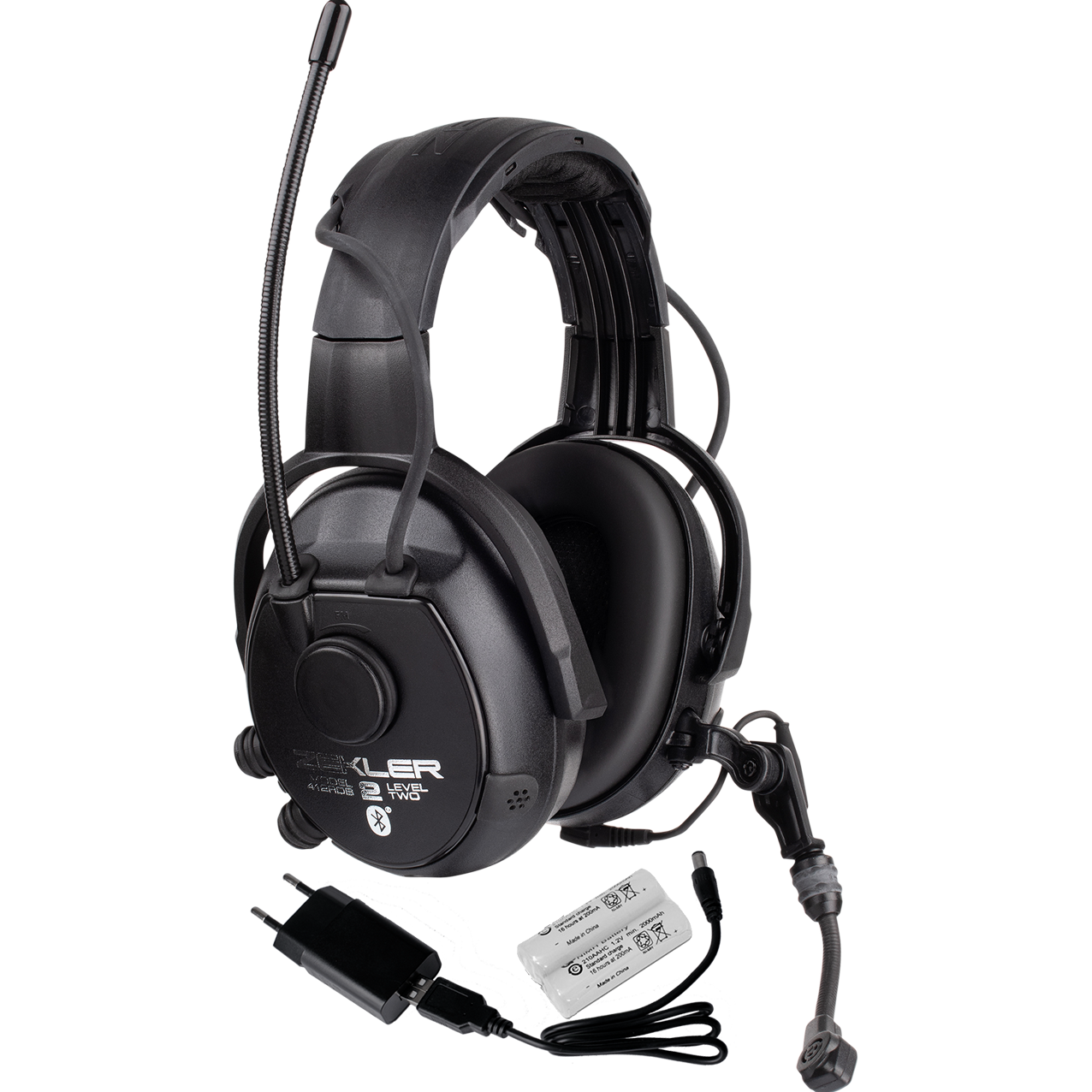Hearing protection ZEKLER 412RDB incl. battery and charger